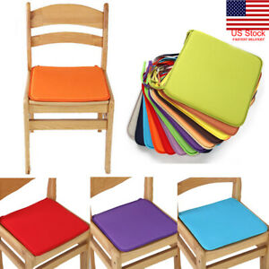 US-Tie-on-Chair-Cushion-Pads-Seat-Patio-Indoor-Outdoor-Garden-Dining-Furniture