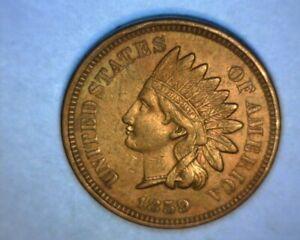 1859-INDIAN-HEAD-CENT-gt-gt-BETTER-DATE-lt-lt-034-COPPER-NICKEL-034-A-U-4-DIAMONDS-US-COIN