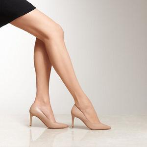 L.k. Bennett Nude Patent Leather Mid Heel 2.5 Pumps Beige