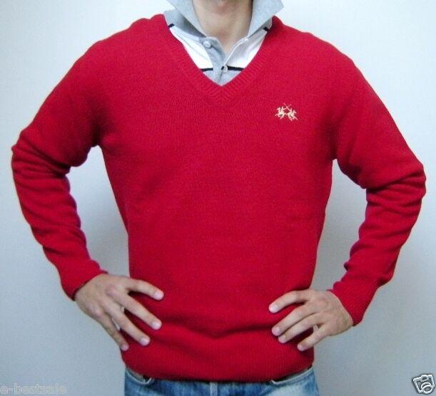 Pullover La Martina Jersey Wolle 100% authentisch V-Ausschnitt