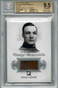 13-14-ITG-Used-Vintage-Newsy-Lalonde-Montreal-Canadiens-BGS-9-5-Habs-Rare-SP-BVG