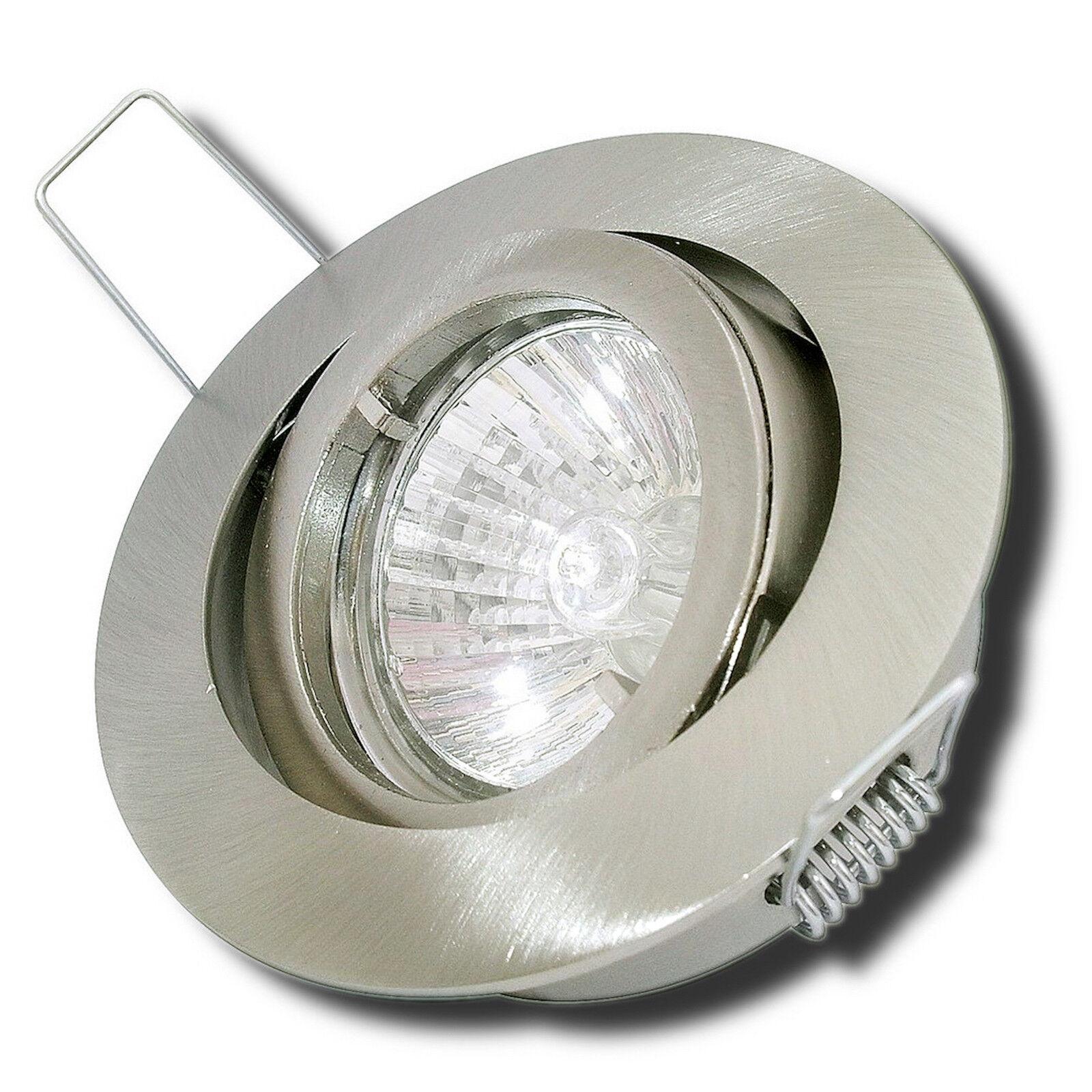 3-50er Sets  230V Halogen Einbauleuchten Deckenstrahler Einbauspots Downlights