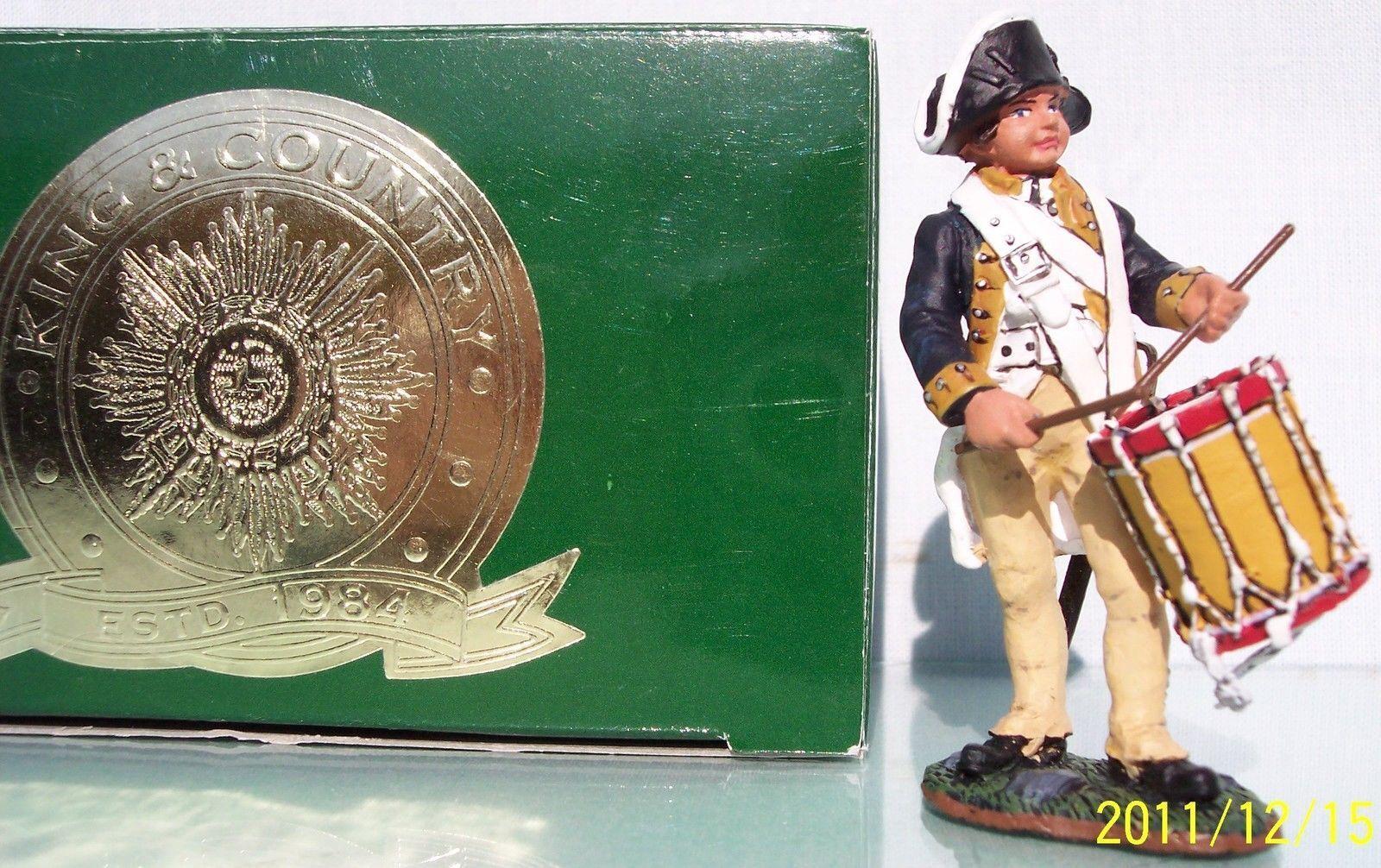 KING & COUNTRY AMERICAN REVOLUTION AR037 1ST NEW YORK REGT DRUMMER BOY MIB