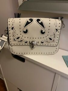 Zara White Studded Crossbody Bag W Tags