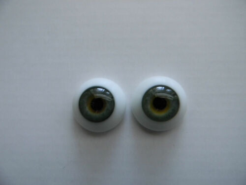 REBORN DOLLS REAL GLASS FLAT BACK EYES 16MM GREEN