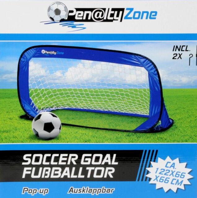 Fußballtor Kinder Pop-Up Fußball- Tor 122 x66 x66cm Klapptor Torwand Tor Goal