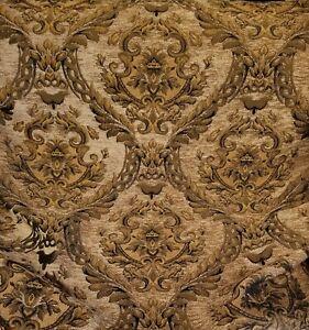 Chenille-Renaissance-damask-Decor-Upholstery-light-gold-Sold-By-yard-o-sample