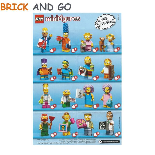 CHOOSE YOUR LEGO MINI FIGURE LEGO SIMPSONS SERIES 2 MINIFIGURES 71009