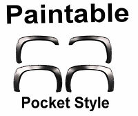Chevy Silverado Fender Flares Pocket Style Set Of 4 For 03-07 Truck Paintable