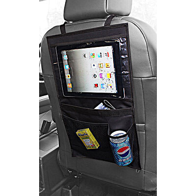 iPad Galaxy iPad Mini Tablet Back Seat Car Organiser Storage Bag Pockets #A01