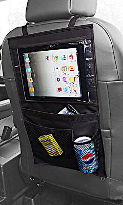 iPad Galaxy iPad Mini Tablet Back Seat Car Organiser Storage Bag Pockets #A01