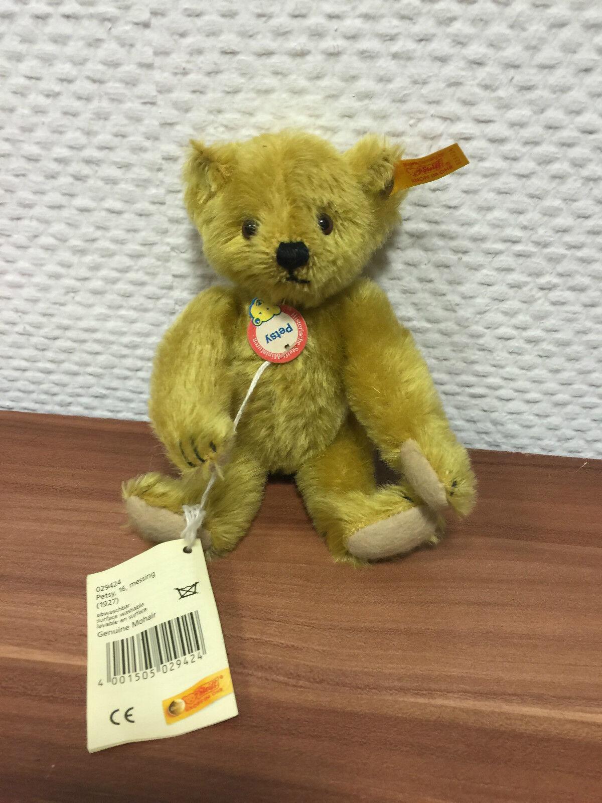 Steiff Teddy Bear 029424 Petsy 16 Cm. Top Condition