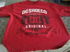 DC Shoes USA T-Shirt - Red - Medium - Original