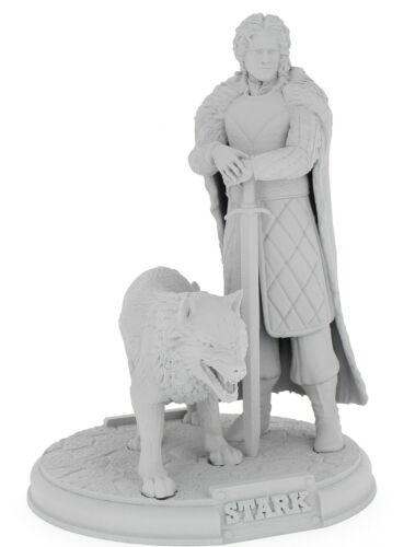 Games of Throne Jonh Snow figurine 3D taille 26 cm à peindre ou pas