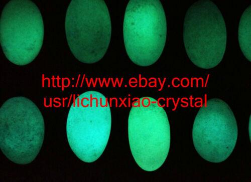 "1.1lb /""Glow In The Dark/"" Tibetan Wealth-God Ancient Luminous Stone Old Dzi Bead"