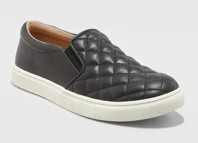 Women's Reese Memory Foam Insole Sneakers Black - A New Day - SIZE 6