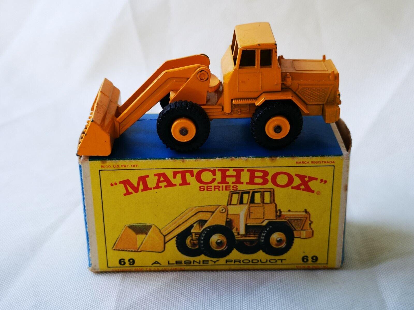 Matchbox Lesney No 69 HATRA Tracteur Pelle Boxed
