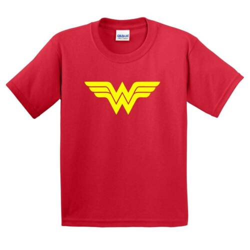 Wonder Woman Tshirt Womens Ladies KIDS Super Hero Costume Party Top Retro