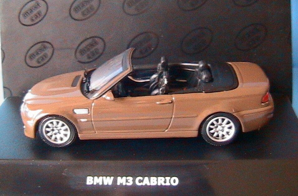 BMW M3 ROADSTER brown MAXICAR 1 43 MAXI CAR BROWN CABRIOLET 1 43 ALLEMAGNE E46