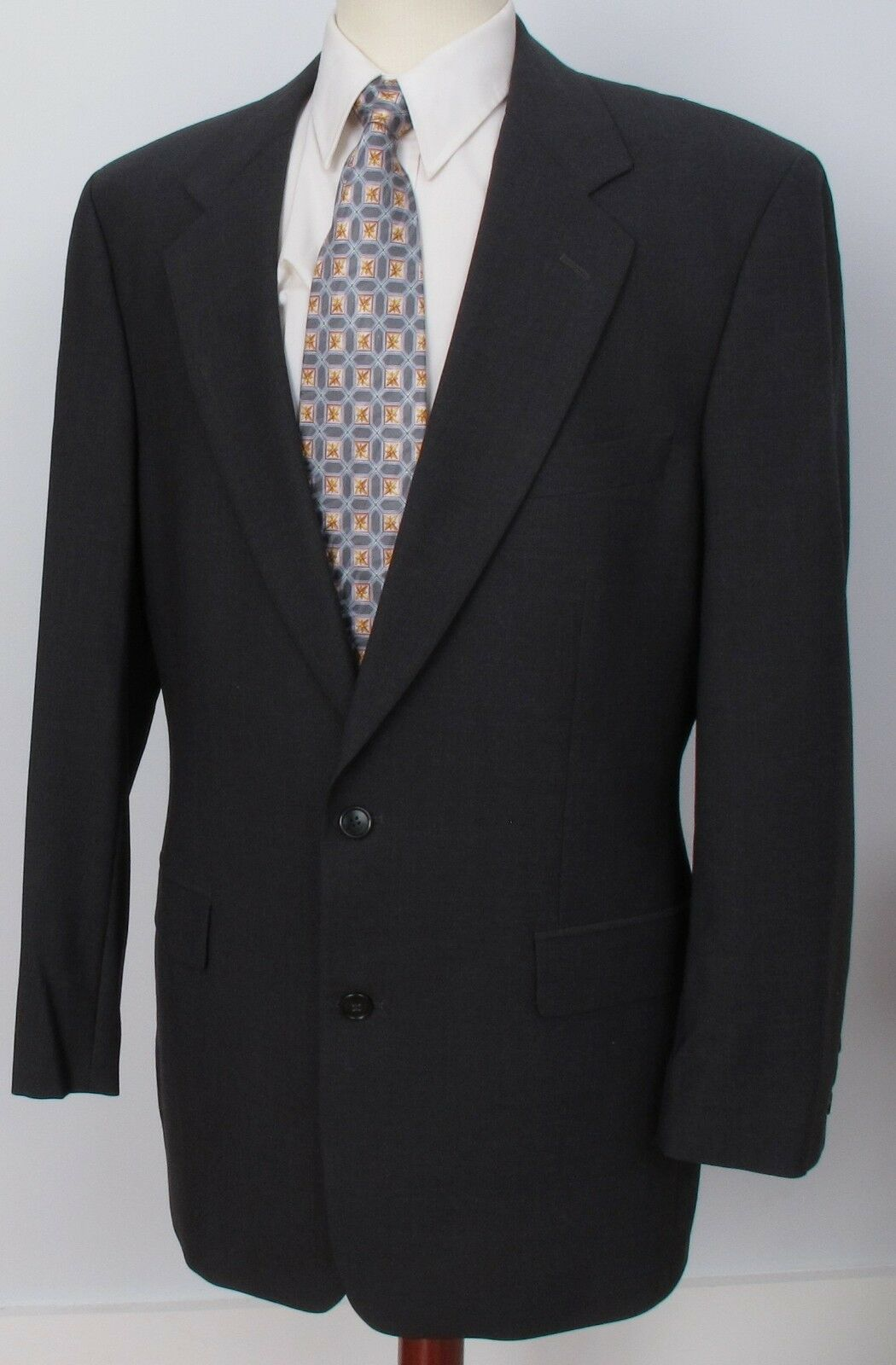 Brooks Brothers Brooksstretch Blazer grau 2 Button Wool 42L PERFECT