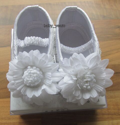 Zapatos blanco suave Cochecito de Niño Bebé Chicos Chicas Bautizo Boda Fiesta desgaste de 0-12 meses