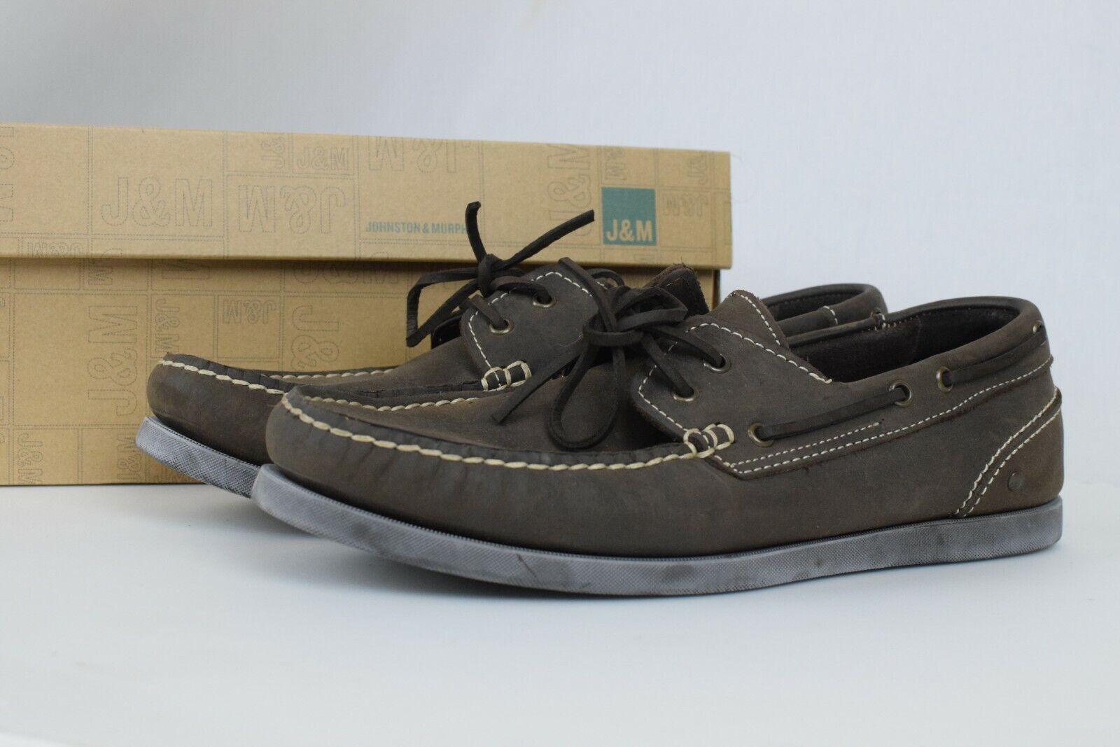 Johnston & Murphy Men's Barnaby Dkbrn Boat shoes Brown Size US 10 1 2 M