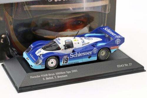 Porsche 956 B Brun #19 1000km spa 1985 Bellof Boutsen 1:43 cmr