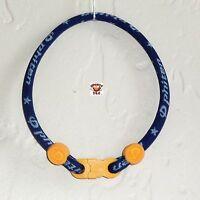 Phiten Custom Bracelet - Navy With Gold Clasp & Gold Grommets