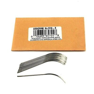 """C.S 21 Gauge Osborne Curved Lampshade Needles #741 Size 2/"""" 12//pk."""