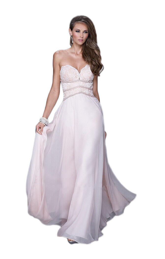 La Femme Prom Dress Formal Evening Gown 20743 Blush Pink Size 4
