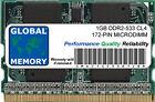 1GB DDR2 533MHz PC2-4200 172-PIN MICRODIMM MEMORIA RAM PER PORTATILI/