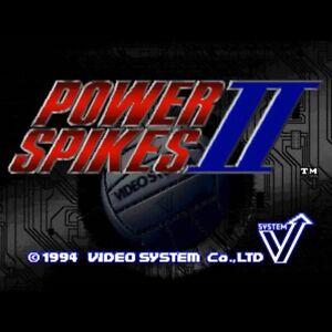 Power Spikes II Cartridge SNK 1994 NEOGEO JAMMA Volleyball Used Good Condition