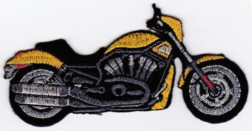 Am78 motocicleta amarillo Chopper Patch perchas imagen aplicación parchear Patch Biker