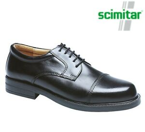 MENS-Black-Leather-Formal-Dress-Capped-Gibson-Shoes-Size-6-7-8-9-10-11-12-13-14