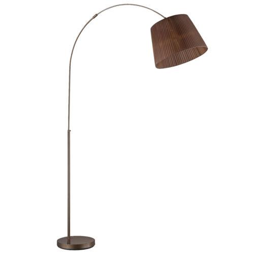 Trio arco lámpara rl167 organza Braun 195cm lámpara de pie lámpara de arco