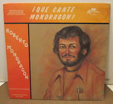 Que Cante Mondragon ROBERTO MONDRAGON Phonograph Record Album LP Rare!!
