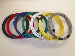 14 GXL 3 SOLID COLORS 25 FEET EACH 75 FEET TOTAL HIGH TEMP AUTOMOTIVE POWER WIRE