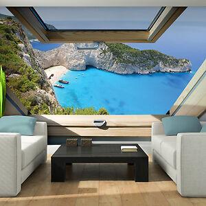 Vlies Tapete Fototapeten Fenster Blick Insel Natur Tropen Strand