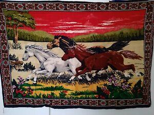 39-x-57-Velvet-Tapestry-Western-Horses-Wall-Hanging-Decor-Rug