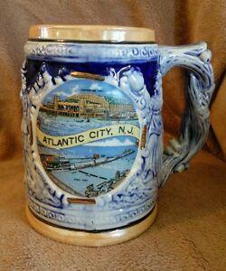 Vintage-Atlantic-City-New-Jersey-beer-mug-stein-souvenir-collectible-made-Japan