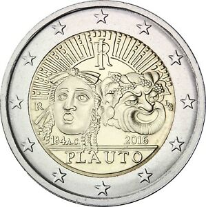 Italien-2-Euro-2016-Tito-Maccio-Plauto-Gedenkmuenze-praegefrisch