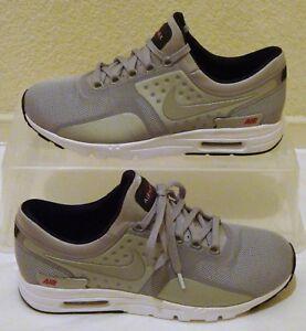 Nuevos Zapatos Nike Air Max para cero Qs Plata Metálica para Max mujer Talle 6f4695