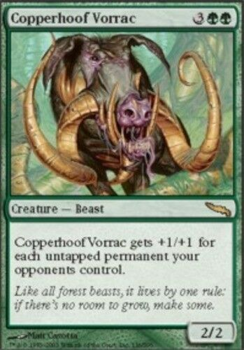 4x Copperhoof Vorrac MTG Mirrodin NM Magic Regular