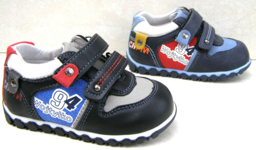 NEW BABY BOYS LEATHER LINED BLACK STRAP TRAINERS WALKING KIDS SHOES SIZES UK 4 5