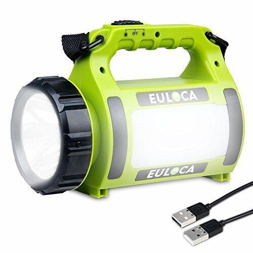 Lampe Torche LED Rechargeable Etanche CREE 3 en 1 Puissante lanterne projecteur