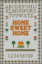 "Home Sweet Home Cross Stitch Kit Sampler 13.5"" x 8.5"""
