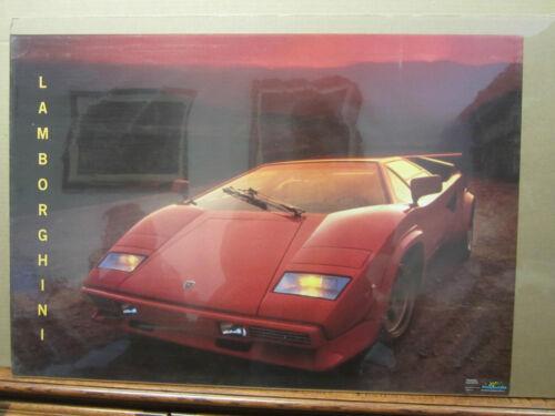 vintage Lamborghini 1986 car garage man cave 2379