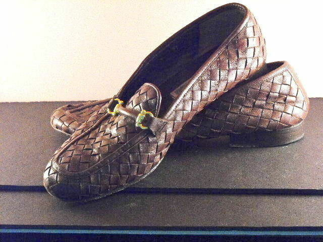 migliore marca Nice COLE HAAN HAAN HAAN Mahogeny Marrone Woven Leather Loafers w Brass Buckle Bits 9.5 10B  edizione limitata a caldo