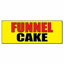 Funnel Cake Food Fair Promotion Business Sign Banner 4 X 2 With 4 Grommets