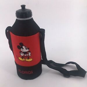Mickey Mouse Red Florida Water Bottle Thermos Holder Carry Case